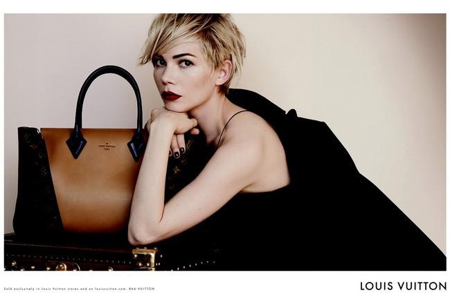 8390e8942103 Американская актриса Мишель Уильямс стала лицом рекламной кампании двух  новых женских сумок от французского дома моды Louis Vuitton - W и Capucines.